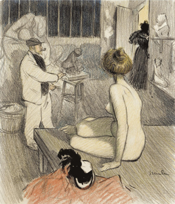 Theophile-Alexander Steinlen. In the workshop