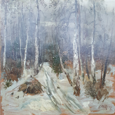 David Pilko. Winter in the forest