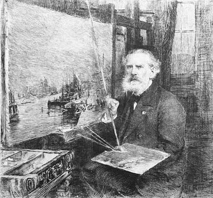 Василий Васильевич Матэ. Портрет А.П. Боголюбова. 1890-е Офорт.