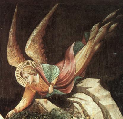 Taddeo Gaddi. The dream of Heraclius (detail)