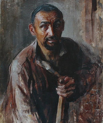 Pavel Petrovich Benkov. Portrait of a loader Tatar