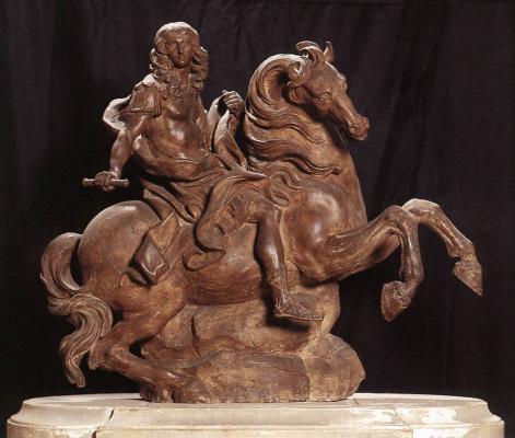 Gian Lorenzo Bernini. Equestrian statue of king Louis XIV