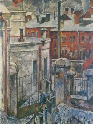 Anatoly Galaktionovich Petritsky. City landscape