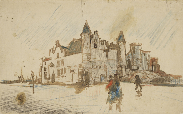 Vincent van Gogh. View of the castle Walls