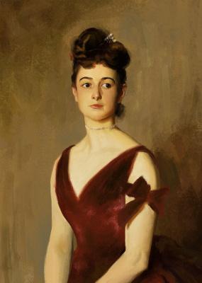 John Singer Sargent. Mrs. Charles E. Inches (Louise Pomeroy)
