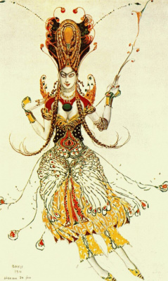 Lev Samoilovich Bakst (Leon Bakst). Costume design for the ballet the Firebird