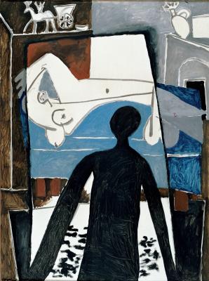 Pablo Picasso. Shadow. The artist's Studio in a Villa in California