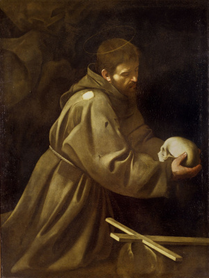 Michelangelo Merisi de Caravaggio. Prayer of St. Francis