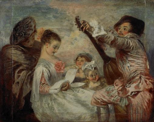 Antoine Watteau. Proof beauty