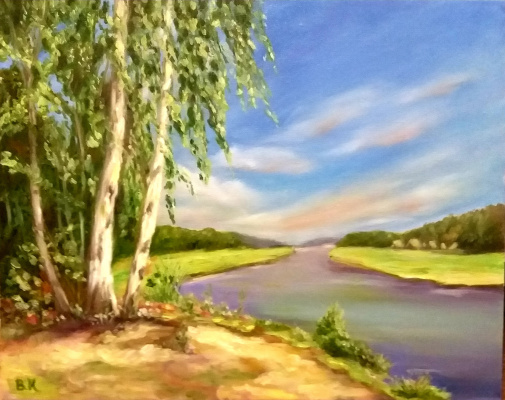Valeria Kostromina. Picture summer day. Landscape.