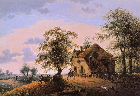 Анри Книп. Пейзаж возле Вюгт