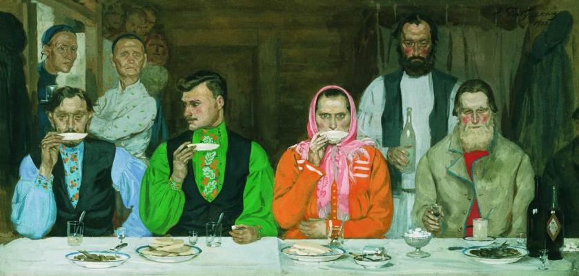 Andrei Petrovich Ryabushkin. The tea party