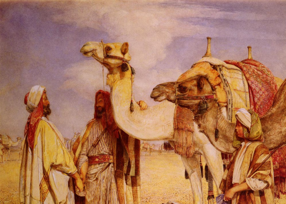 John Frederick Lewis. The greeting in the desert Egypt