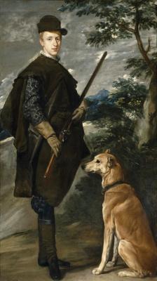 Diego Velazquez. Portrait of cardinal-Infante Ferdinand of Austria in hunting costume