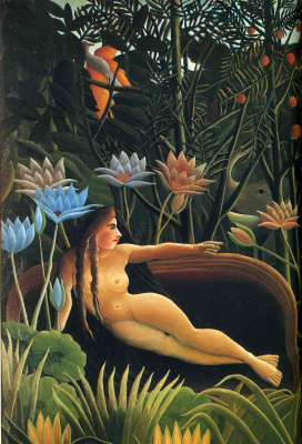Henri Rousseau. Sleep. Fragment
