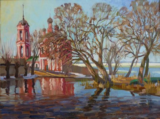 Владимир Никитович Шмуратко. Spring on the Trubezh River