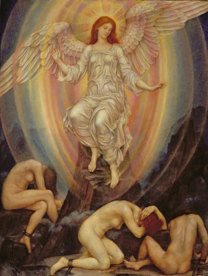 Evelyn De Morgan (Pickering). Light shines in darkness, and Darkness does not comprehend it.