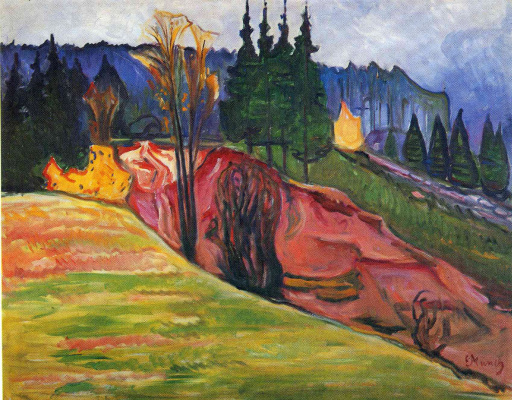 Edvard Munch. The Thuringian Forest