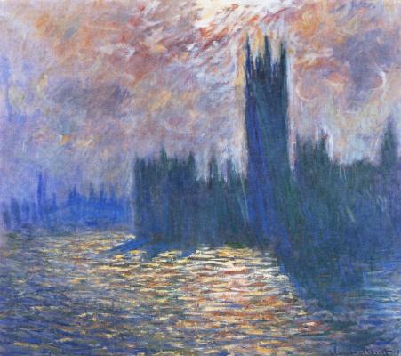 Здание парламента, размышления о Темзе
