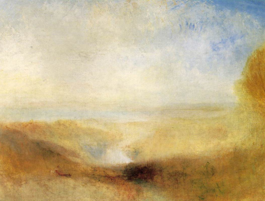 Joseph Mallord William Turner. Landscape with river and a Bay in the distance