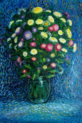 Daria Nurtazina. Ваза с цветами в Октябре