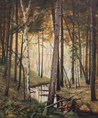Gennady Shotovich Bartsits. Stream in the forest