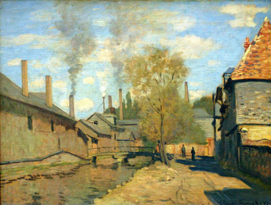Claude Monet. Stream Robek in Rouen