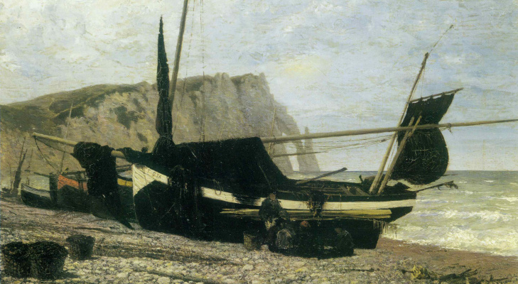 Vasily Dmitrievich Polenov. Fishing boat. Étretat. Normandy