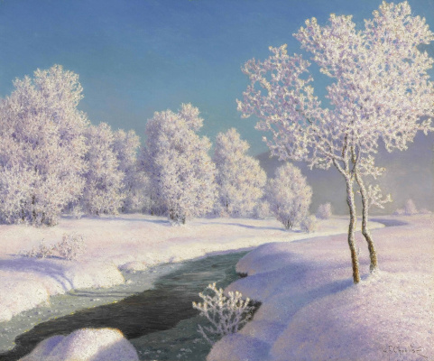Ivan Fedorovich Schultze. Winter morning in Engadine