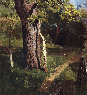 Isaac Levitan. Oak and birch