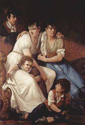 Франческо Айец. Семейный портрет