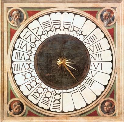 Паоло Уччелло. Часы над входом в западную часть Санта Мария дель Фьоре