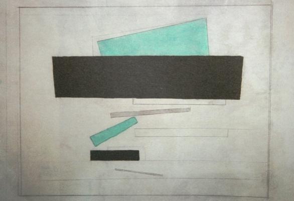 Nikolai Mikhailovich Suetin. Suprematist composition with a black rectangle