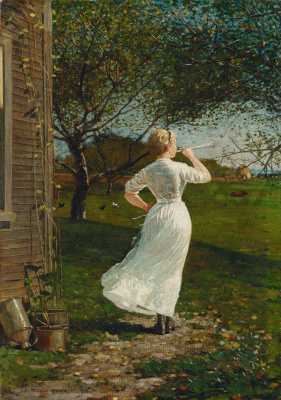 Winslow Homer. The signal for dinner