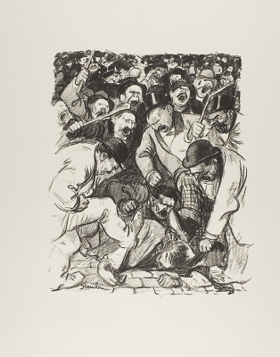Theophile-Alexander Steinlen. Striking arguments
