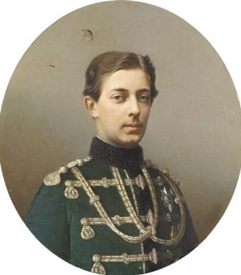 Sergey Konstantinovich Zaryanka. Portrait of Tsarevich Nikolai Aleksandrovich (1843-1865)