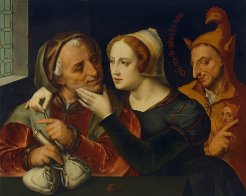 Quentin Masseys. Couple with a jester