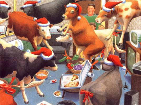 Даниэль Лейн. Рождественские коровы 06