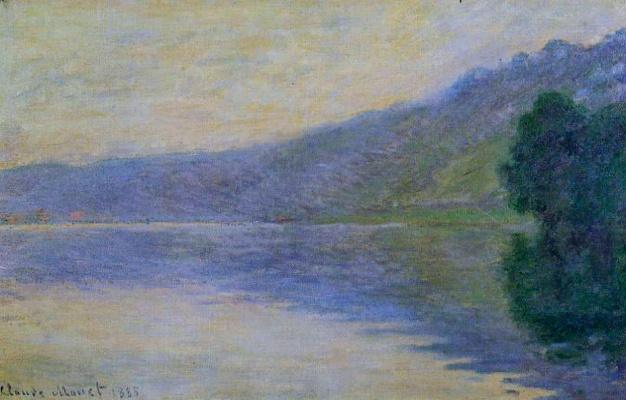 Claude Monet. The Seine at Port-Villez, harmony in blue