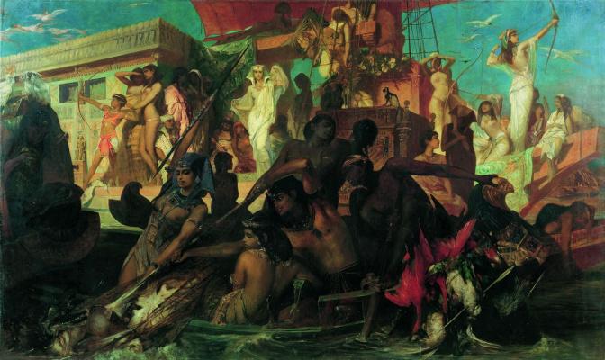 Hans Makart. Hunt of Cleopatra on the Nile