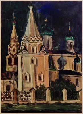 Victor Georgievich Efimenko. Church of Elijah the Prophet. Yaroslavl. 1972