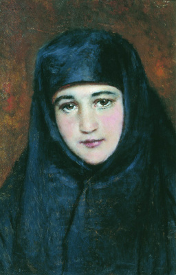 Константин Егорович Маковский. Молодая монахиня
