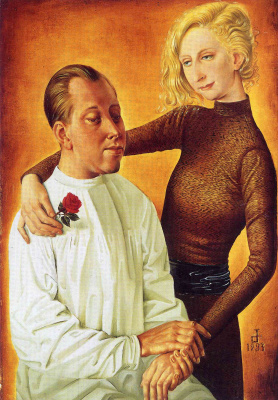 Otto Dix. Portrait of the painter Hans Theo Richter and his wife Gisela