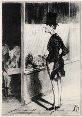 Honore Daumier. I have fifteen centimes