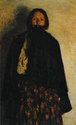 Филипп Андреевич Малявин. Крестьянка, закрывающая свиткой рот