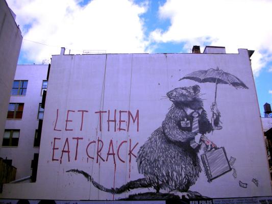 Banksy. Let them eat crack