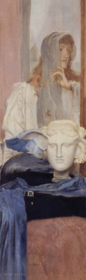 Fernand Knopf. Blue wing