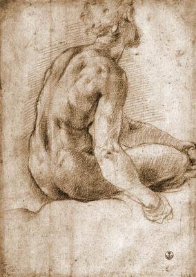 Jacopo Pontormo. Nude sketch