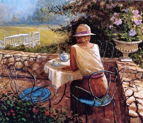 Филипп Ричард. Чаепитие в саду