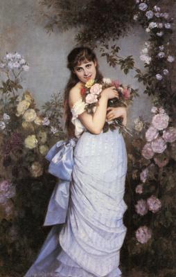 Огюст Тоулмоуч. Молодая девушка в саду